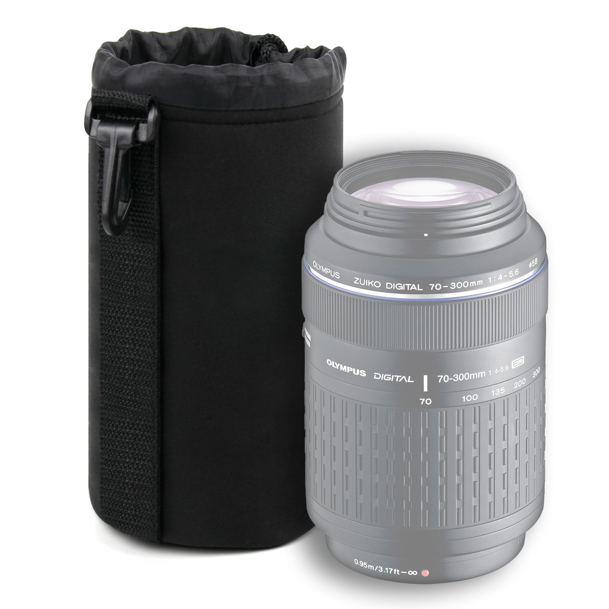 Super Soft Large Camera Lens Pouch For Olympus Zuiko