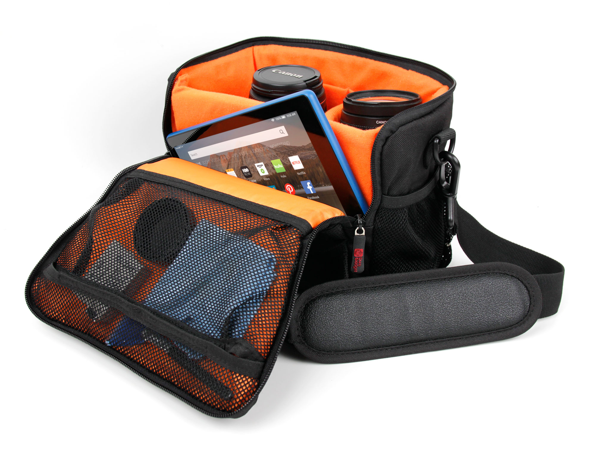 Padded Double-zip Holdal Case W/ Strap For Use W/ N1240586 8-16x40 Binoculars Cameras & Photo